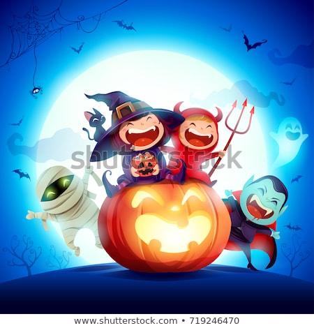 Vriendelijk dracula vector cartoon ontwerp kunst Stockfoto © jiaking1