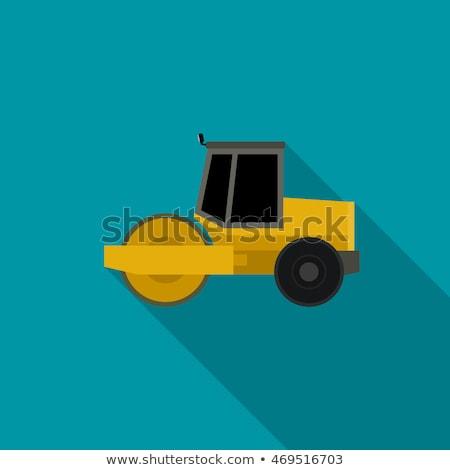 Asfalt çalışmak inşaat makinalar stil yol Stok fotoğraf © biv