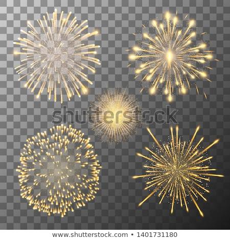 Foto stock: Fogos · de · artifício · estrelas · projeto · aniversário · fundo