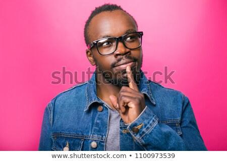 молодые скептический человека очки портрет Сток-фото © Giulio_Fornasar
