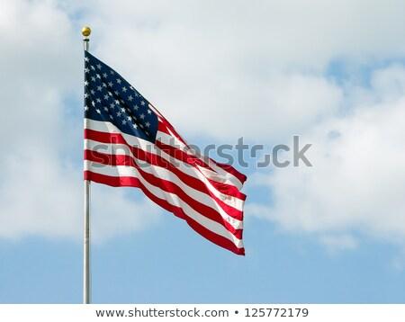 EUA bandera polo puesta de sol americano banner Foto stock © stevanovicigor