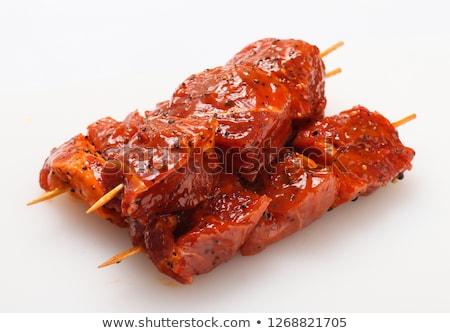 Gemarineerd ruw rundvlees twee kruiden specerijen Stockfoto © zhekos