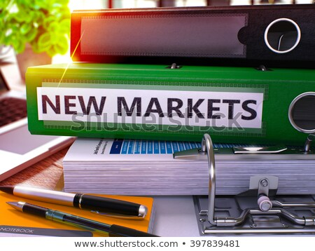 Vert bureau dossier nouvelle marchés Photo stock © tashatuvango