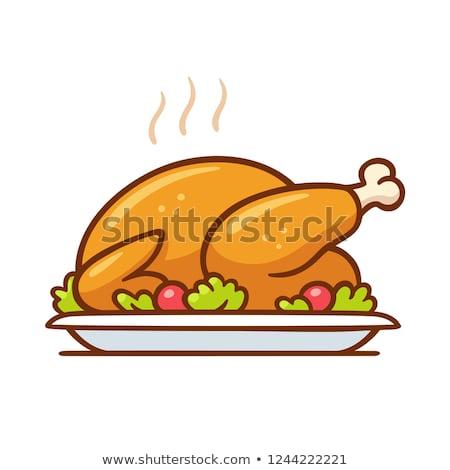 Drób kurczaka Turcja gęś komiks Zdjęcia stock © rogistok