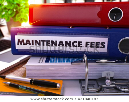 Blue Ring Binder with Inscription Maintenance Fees. Stock photo © tashatuvango