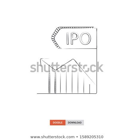 IPO Concept with Doodle Design Icons. Stock photo © tashatuvango