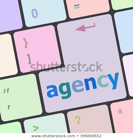 ügynökség billentyűzet kulcs laptop billentyűzet piros numerikus billentyűzet Stock fotó © tashatuvango