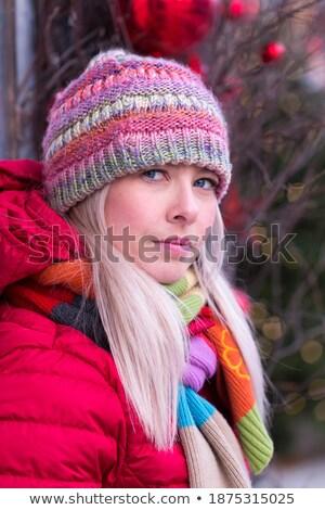 小さな 本当の ブロンド 女性 スカーフ 春 ストックフォト © iordani