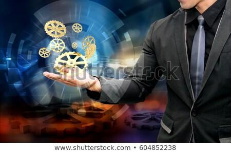 Usine automatisation or engins 3D Photo stock © tashatuvango