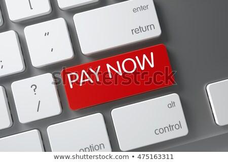 ödeme · kırmızı · klavye · düğme · 3D - stok fotoğraf © tashatuvango