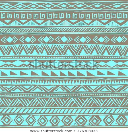 薄緑 · ネイティブ · アメリカン · 民族 · パターン · ベクトル - ストックフォト © vector1st