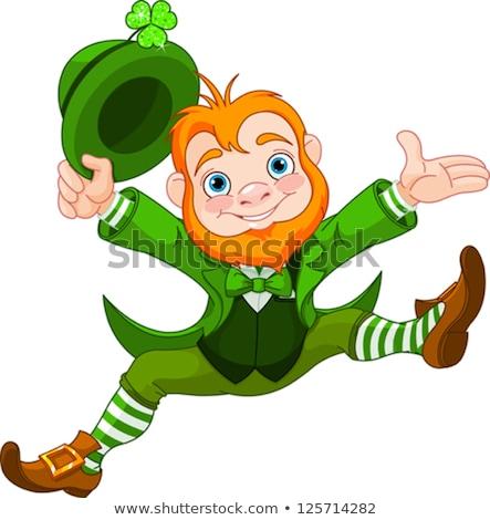 Leprechaun St Patricks Day Cartoon Character Stock photo © Krisdog