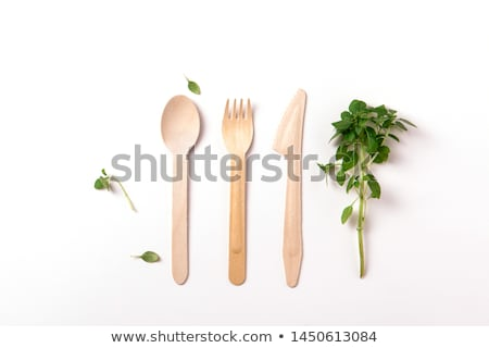 set of wooden cutlery Stock photo © Digifoodstock