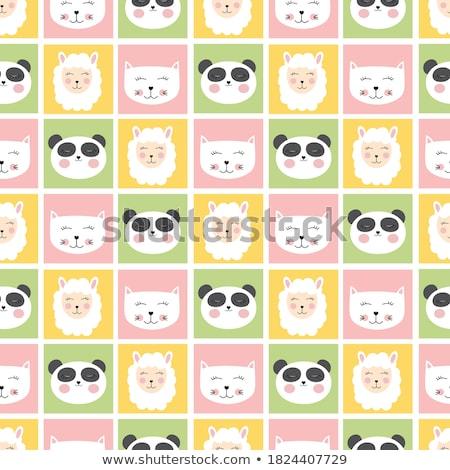 Baby prysznic karty szablon funny gryzmolić Zdjęcia stock © balasoiu