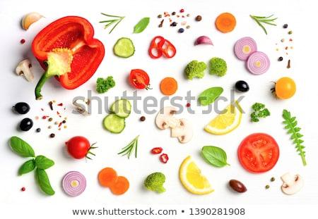 Vegetali insalatiera alimentare sfondo estate pasta Foto d'archivio © M-studio