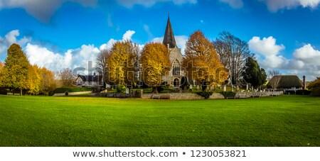 templom · Sussex · szent · falu · zöld · mező - stock fotó © smartin69