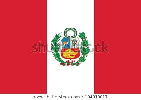 Перу флаг белый Мир знак стране Сток-фото © butenkow