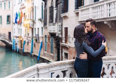 カップル キス ヴェネツィア イタリア 女性 愛 ストックフォト © IS2