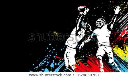 Rugby jogador bola homem corrida blue sky Foto stock © IS2