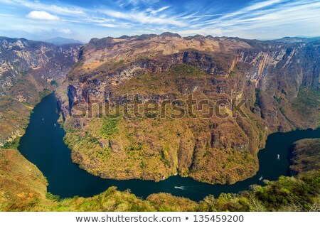 Cliff in Sumidero Canyon Mexico Stock photo © THP