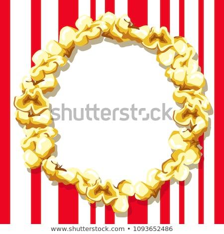 An empty frame for an inscription made of popcorn stock photo © bedlovskaya