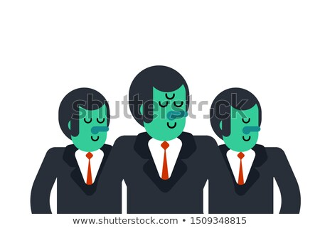 Business team UFO. Three Aliens. Boss and managers.  Stock photo © MaryValery