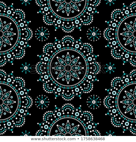 dot painting monochrome vector seamless pattern with mandalas australian ethnic design aboriginal stock photo © redkoala