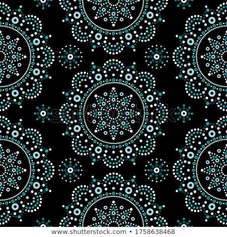 Stock photo: Dot Painting Monochrome Vector Seamless Pattern With Mandalas Australian Ethnic Design Aboriginal