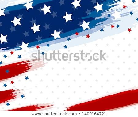 Rood witte Blauw sterren banner Stockfoto © x7vector