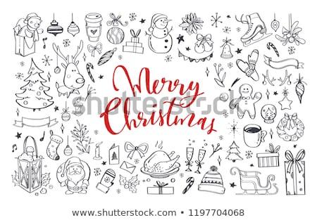 набор болван Рождества объекты шарф Сток-фото © frescomovie