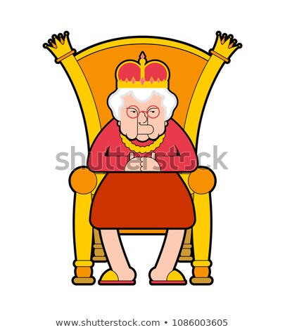 Reina trono vieja jefe real silla Foto stock © MaryValery