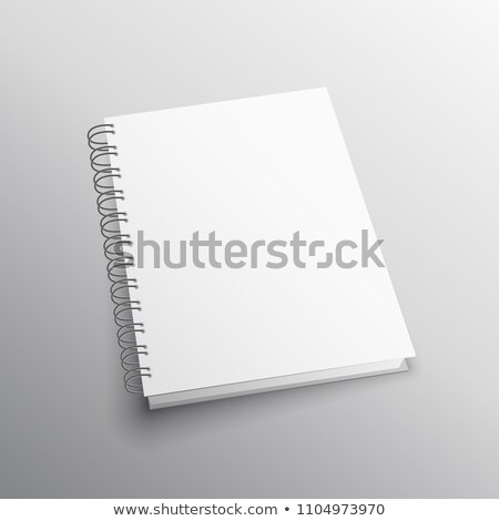 double loop binding book mockup template Stock photo © SArts