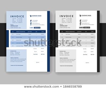 elegant clean business invoice professional template Stock photo © SArts