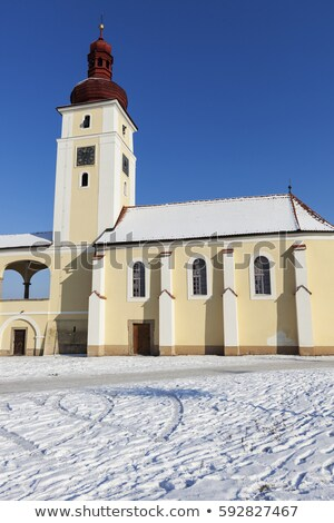 St. Martin Church in Nove Dvory Stock photo © benkrut