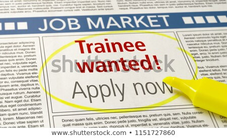 job ad in a newspaper   trainee wanted stock photo © zerbor