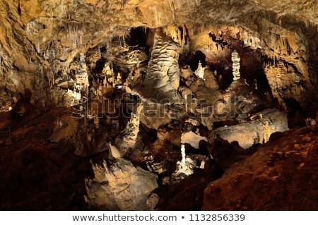Barlang Magyarország kő bejárat fal természet Stock fotó © grafvision