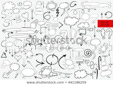 cloud with arrow down hand drawn outline doodle icon stock photo © rastudio