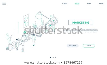 finance app   colorful line design style vector illustration stock photo © decorwithme