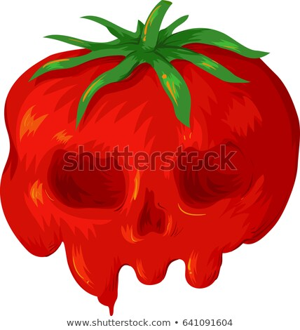 Gmo Tomato Skull Illustration Stock photo © lenm