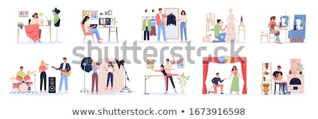 hobby of musician people set vector illustration stock photo © robuart