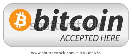 Bitcoin Accepted Shop Flat Icon Stock photo © smoki