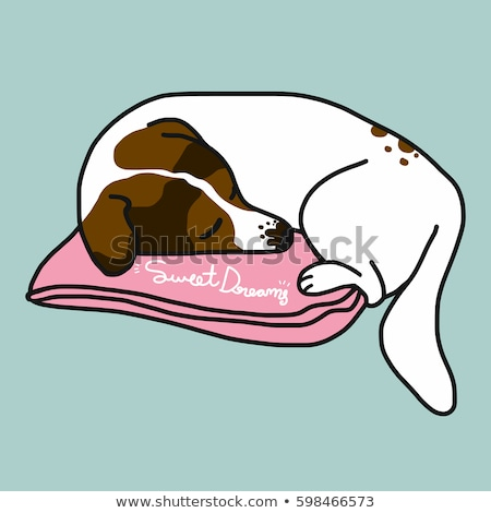 Cartoon Jack Russell Terrier Dreaming Stock photo © cthoman