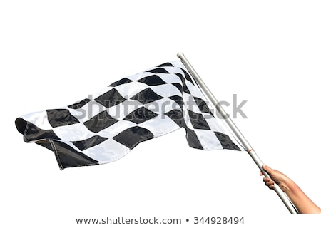 Auto racing finish checkered flag isolated on white Stock photo © daboost