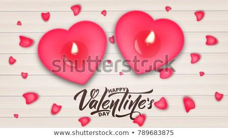 Valentijnsdag verkoop rozen bloemblaadjes banners behang Stockfoto © ikopylov
