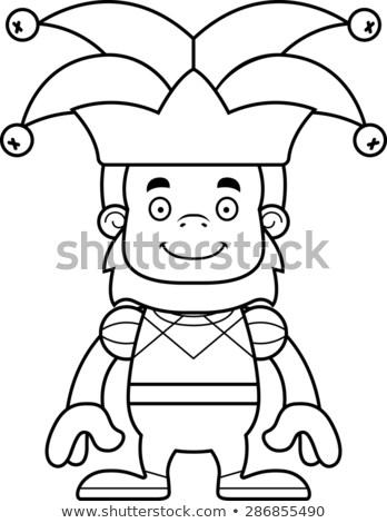 Cartoon Smiling Jester Sasquatch Stock photo © cthoman