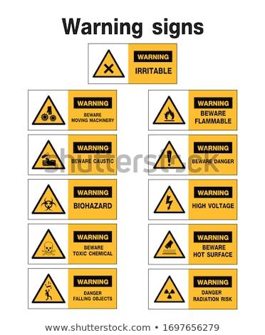 предупреждение желтый треугольник знак лаборатория Сток-фото © kayros