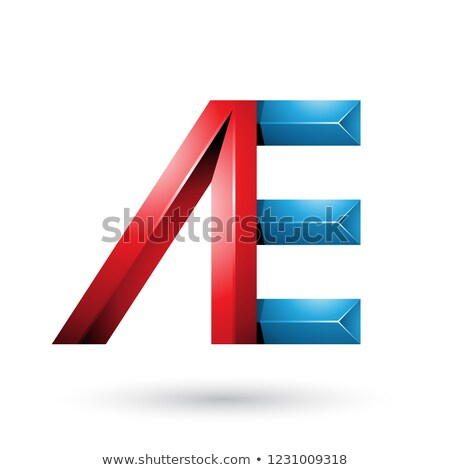 Red and Blue Pyramid Like Dual Letters of A and E Vector Illustr Stock photo © cidepix