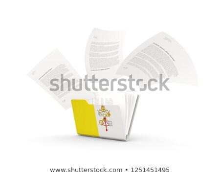 папке флаг Ватикан файла изолированный белый Сток-фото © MikhailMishchenko