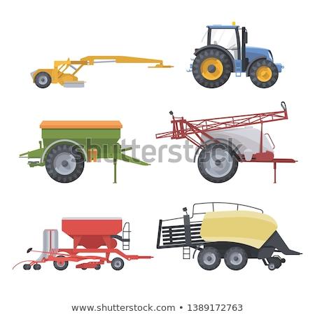 trekker · agrarisch · geïsoleerd · iconen · vector - stockfoto © robuart