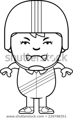 漫画 怒っ レースカー ドライバ 少年 見える ストックフォト © cthoman